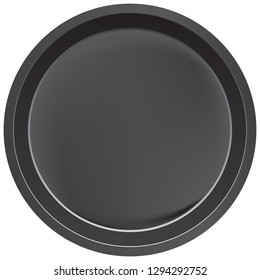 Round classic baking dish with a low edge. All-in-one form.
