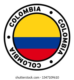 Round Colombia Flag Clipart