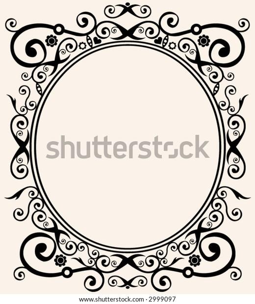 round decorative frame