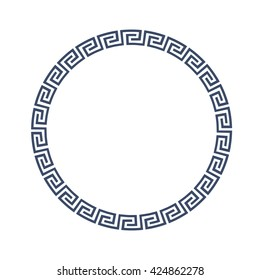 Round decorative frame for design in Greek style. Vector EPS10