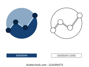 round diagram report document analytics or investigation graph analytics data research icon vector