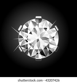 Round Diamond. Vector.