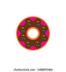 round donut icon logo vector