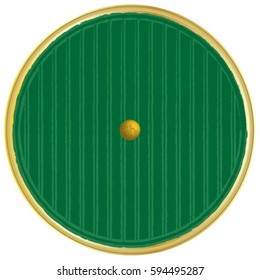 Round Door Green and Gold Magical Fantasy Vector