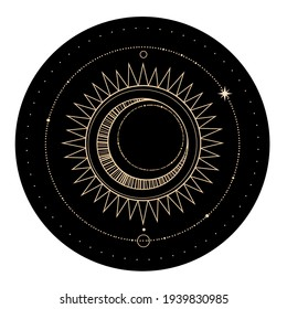 round esoteric composition of the sun and stars