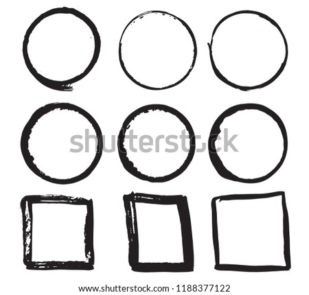 Round Frames Text Boxes Grunge Textured Stock Vector (Royalty Free ...