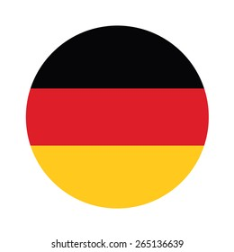 Round german flag vector icon isolated, german flag button