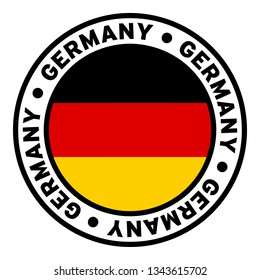 Round Germany Flag Clipart