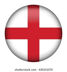 Round glossy Button with flag of England