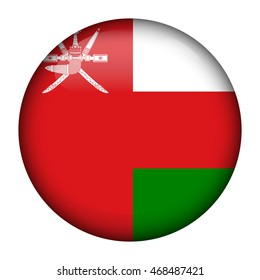 Round glossy Button with flag of Oman