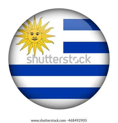 Round Glossy Button Flag Uruguay Vector de stock (libre de regalías ...