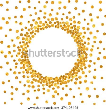 gold frame border transparent round gold frame or border on white background pattern of golden acrylic confetti design gold frame border on white stock vector royalty free