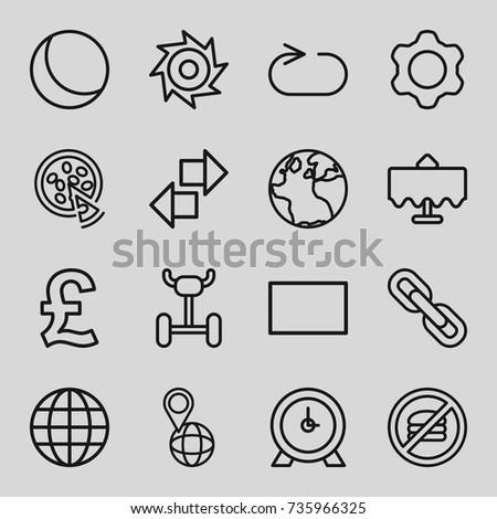 Round Icons Set Set 16 Round Stock Vector Royalty Free