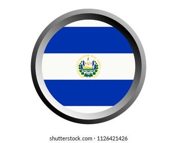 Round National Flag of El Salvador
