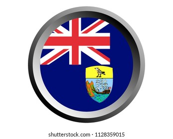 Round National Flag of St Helena