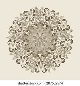 Round Ornament Patterns. Mandala and mandala samless pattern vector. Paisley Floral Design Element.