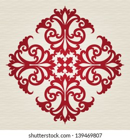 Round ornament in Victorian style. Element for design. It can be used for decorating of invitations, cards, decoration for bags and at tattoo creation.