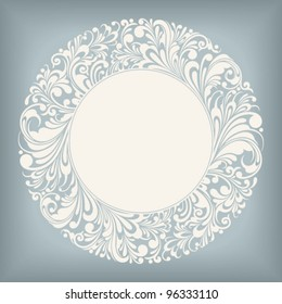 round ornamental frame, vector illustration