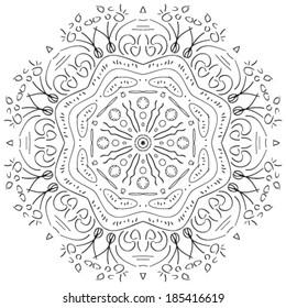 round ornamental geometric