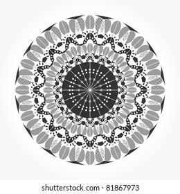 Round ornamental  lace vector