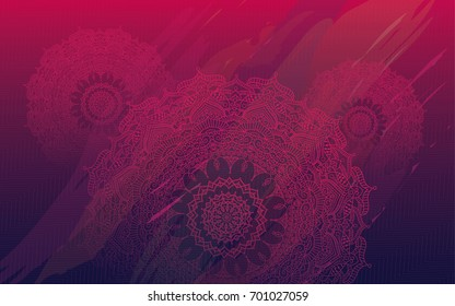 Round Ornate Henna Mandala Design Background