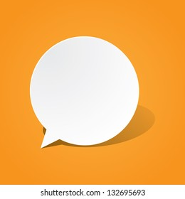 Round Paper Speech Bubble