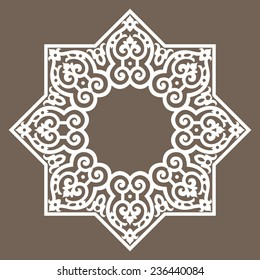 Round pattern abstract design element - Middle east, Persian, Arabesque Islamic pattern design