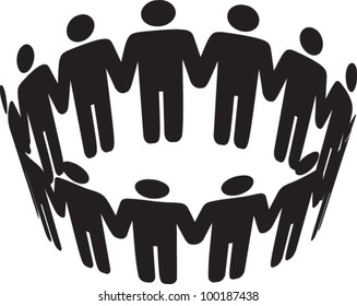 round of peoples. Team and union metaphor