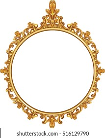 Round frame images stock photos vectors shutterstock round photo frame metal gold interi pattern vector thecheapjerseys Images