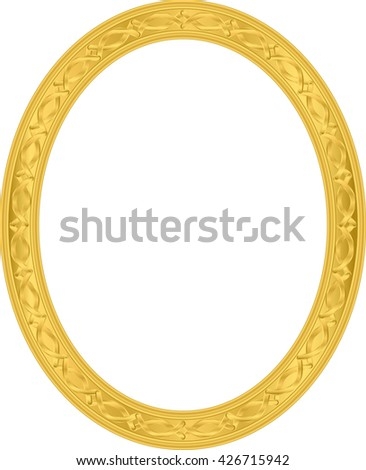 32ece8e824c Round Photo Frame Metal Gold Interi Stock Vector (Royalty Free ...