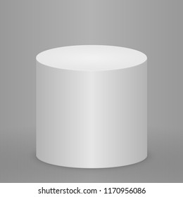 Round podium, pedestal or platform illuminated