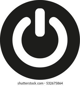 Round Power button