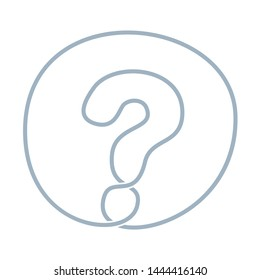 round question mark endless single line