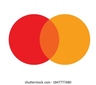 round red orange color pallet vector template
