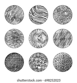 Round Shape With Abstract Grunge Texture