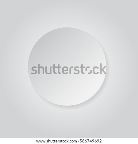 Round Shape White Grey Paper Style Stock Vector (Royalty