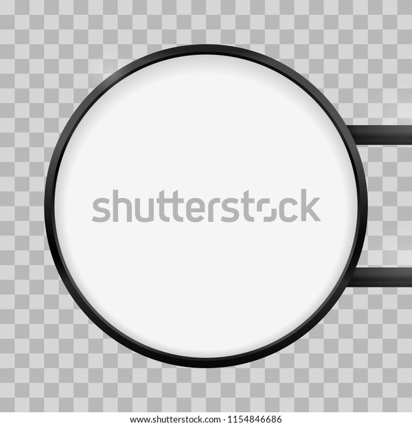 Round Signage Light Box Signboard Vector Stock Vector