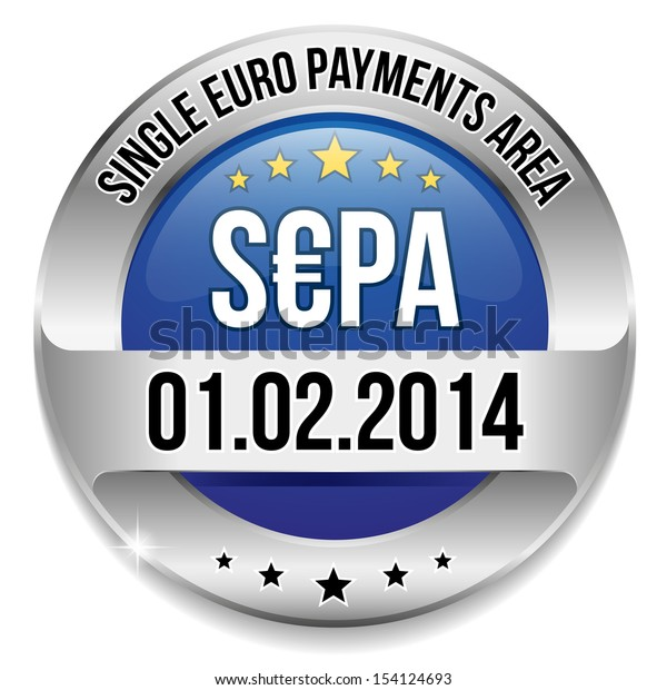 Round single euro payments area button