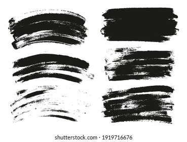 Round Sponge Thin Artist Brush Long And Curved Background Mix High Detail Abstract Vector Background Mix Set