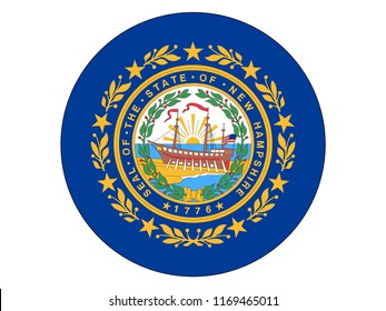 Round State Flag of New Hampshire