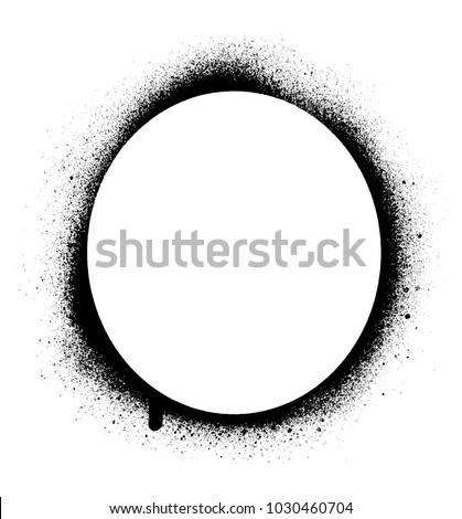 round stencil template spray graffiti texture のベクター画像素材