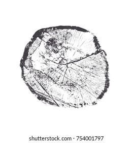 Round stump shape on white