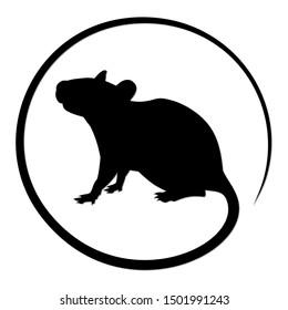 The Round Symbol of Black Rat.