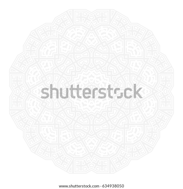 Round symmetrical pattern. Kaleidoscopic design, Can be used for coloring book page, Vector illustration