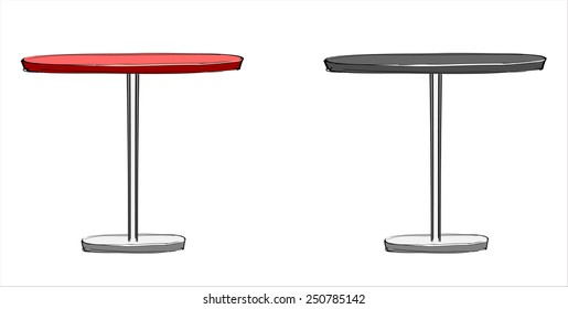 Round table. - hands sketch vector illustration