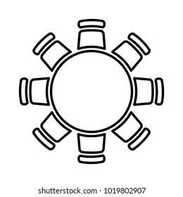 Round table icon, vector illustration.
