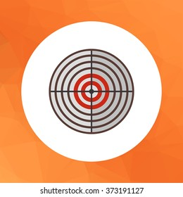 Round target icon