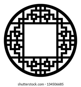 round traditional decorative frame of Chinese