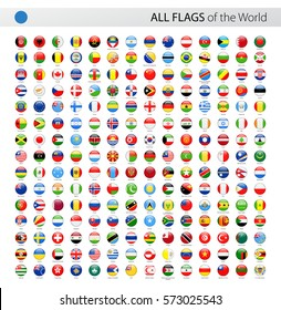 Round World Flags Vector Collection of All World Vector Flags