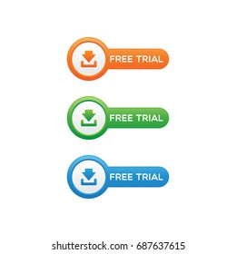 Rounded Free Trial Buttons